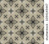 vector damask seamless pattern | Shutterstock .eps vector #1054145447