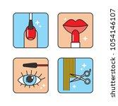 beauty salon procedures outline ... | Shutterstock .eps vector #1054146107