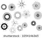 round symmetrical patterns....   Shutterstock .eps vector #1054146365