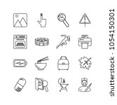 pack icons set with fingerprint ...