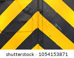 dangerous area with a closed... | Shutterstock . vector #1054153871