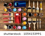 painting tools and accessories... | Shutterstock . vector #1054153991