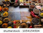 frame  herbs and spices | Shutterstock . vector #1054154504