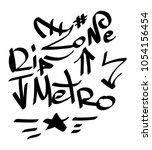 modern graffiti tags on a white ... | Shutterstock .eps vector #1054156454