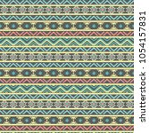 tribal pattern with geometric... | Shutterstock .eps vector #1054157831