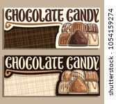 vector banners for chocolate... | Shutterstock .eps vector #1054159274