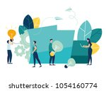 vector creative illustration of ... | Shutterstock .eps vector #1054160774