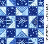 seamless patchwork background... | Shutterstock .eps vector #1054161215