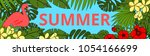 summer background with tropic... | Shutterstock .eps vector #1054166699