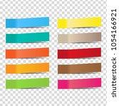 post note sticker vector...   Shutterstock .eps vector #1054166921