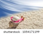 happy easter egg lying on a... | Shutterstock . vector #1054171199