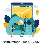 vector illustration  increase... | Shutterstock .eps vector #1054172537