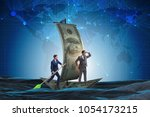 business partnership with... | Shutterstock . vector #1054173215