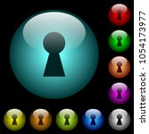 keyhole icons in color... | Shutterstock .eps vector #1054173977