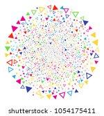 Multicolored Triangle Shape...