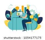vector creative illustration of ...   Shutterstock .eps vector #1054177175