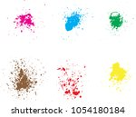 vector paint splatters.colorful ... | Shutterstock .eps vector #1054180184