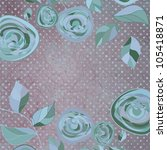 floral backgrounds with vintage ...   Shutterstock .eps vector #105418871