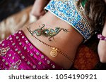 Indian Bridal Showing Henna...