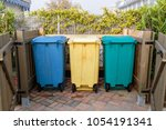 three types of waste separation ... | Shutterstock . vector #1054191341