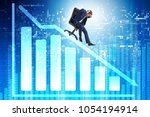 businessman sliding down on...   Shutterstock . vector #1054194914