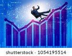businessman in economic growth...   Shutterstock . vector #1054195514