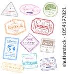 international travel visa... | Shutterstock . vector #1054197821