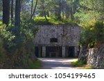 catholic church notre dame du... | Shutterstock . vector #1054199465