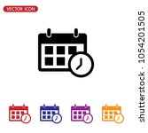 calendar and clock icon. date...