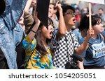los angeles   march 24  2018 ... | Shutterstock . vector #1054205051