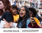 Small photo of LOS ANGELES - MARCH 24, 2018: March For Our Lives is a movement dedicated to student-led activism around ending gun violence and the epidemic of mass shootings in schools today. Los Angeles, CA.