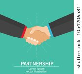 business partner handshake of... | Shutterstock .eps vector #1054206581