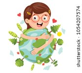 vector illustration of earth day | Shutterstock .eps vector #1054207574