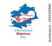 international midwives day | Shutterstock .eps vector #1054209884