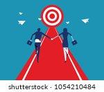 business team people handshake...   Shutterstock .eps vector #1054210484