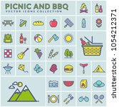 picnic and barbecue modern web... | Shutterstock .eps vector #1054212371