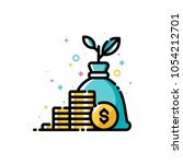 income increase  return on... | Shutterstock .eps vector #1054212701