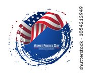 armed forces day template... | Shutterstock .eps vector #1054213949