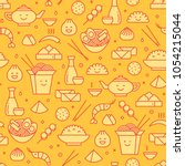 vector seamless pattern with... | Shutterstock .eps vector #1054215044