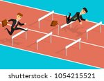 competitive business people ... | Shutterstock .eps vector #1054215521