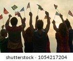 concept of international... | Shutterstock . vector #1054217204