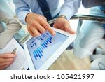close up of a modern business... | Shutterstock . vector #105421997