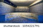 interior of luxury turkish bath ... | Shutterstock . vector #1054221791
