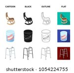 denture  rocking chair  walker  ... | Shutterstock .eps vector #1054224755