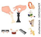 manipulation by hands cartoon... | Shutterstock .eps vector #1054226429
