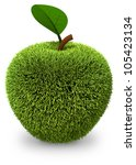 green grass apple | Shutterstock . vector #105423134
