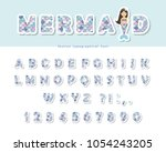 mermaid scale font. for...