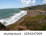 beach overlook with wide angle  | Shutterstock . vector #1054247009