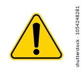 hazard warning attention sign... | Shutterstock .eps vector #1054248281