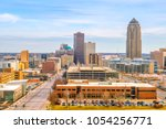 des moines iowa skyline in usa  ... | Shutterstock . vector #1054256771